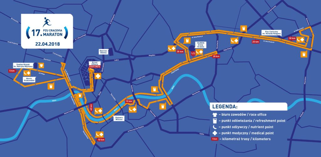 trasa 17. Cracovia Maraton