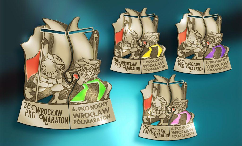 Medal PKO Nocny Wrocław Półmaraton