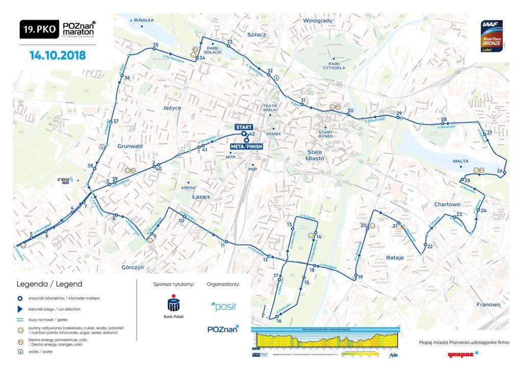 Poznań Maraton - mapa